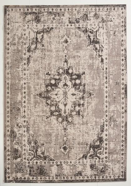 Teppich Grau gemustert 140x200 cm, Frisee Modern