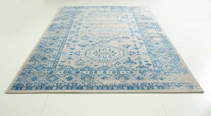 Teppich Blau gemustert 160x230 cm, Frisee Modern