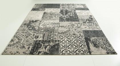 Teppich Grau gemustert 160x230 cm, Frisee Modern