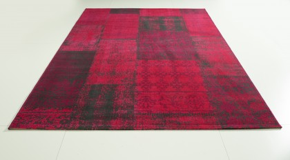 Teppich Rot-Beere gemustert 160x230 cm, Frisee Modern