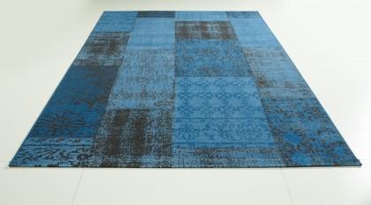 Teppich Blau gemustert 120x170 cm, Frisee Modern