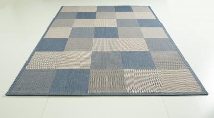 Teppich Blau gemustert 120x170 cm, Flachgewebe