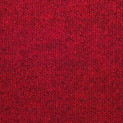 Teppichfliese Rex Rot 50 x 50 cm