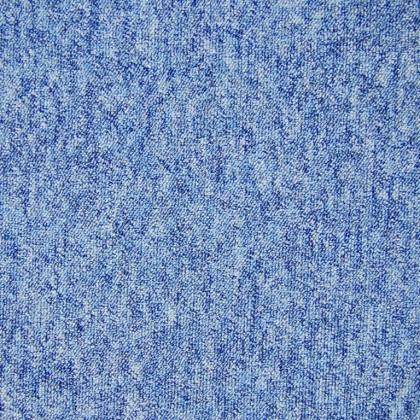 Teppichfliese Largo Blau 50 x 50 cm, besonders Schmutz abweisend
