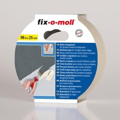 Maler-Kreppband fix-o-moll, flachgekreppt 50m x 2mm