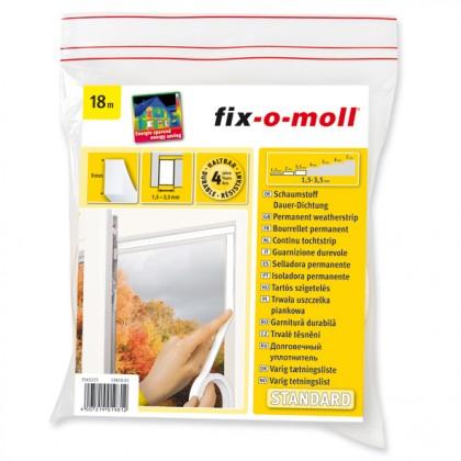 Schaumstoff-Dauerdichtung fix-o-moll, Weiß, 18m x 9mm x 4mm