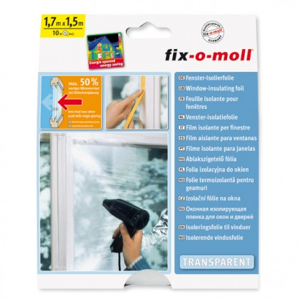 Fenster-Isolierfolie fix-o-moll, 1,7 x 1,5m