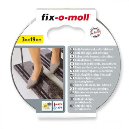 Anti-Rutschband fix-o-moll, Schwarz, selbstklebend 3m x 19mm