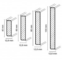 Sockelleisten cubu flex life 40-100 mm, weiss
