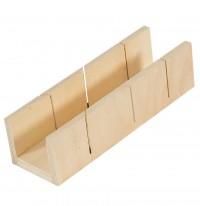 Gehrungsschneidlade aus Holz 245 x 100 x 40 mm