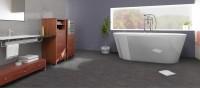 Vinyl Fliesen Catania Schiefer für Badezimmer