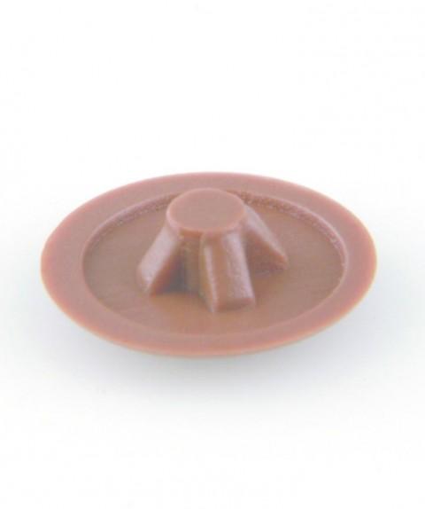 30 Abdeckkappen für PZ-2-Schrauben der Größen 3,5-5 mm, klein, Braun