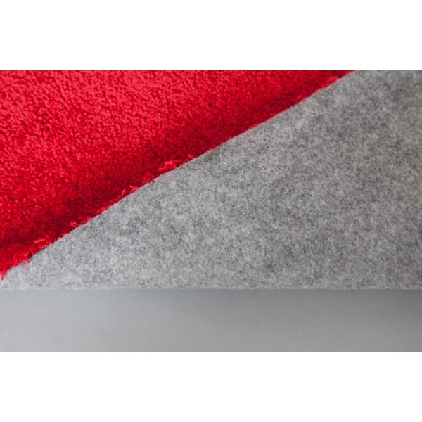 teppich rot einfarbig 160x230 cm hochflor klick vinyl. Black Bedroom Furniture Sets. Home Design Ideas