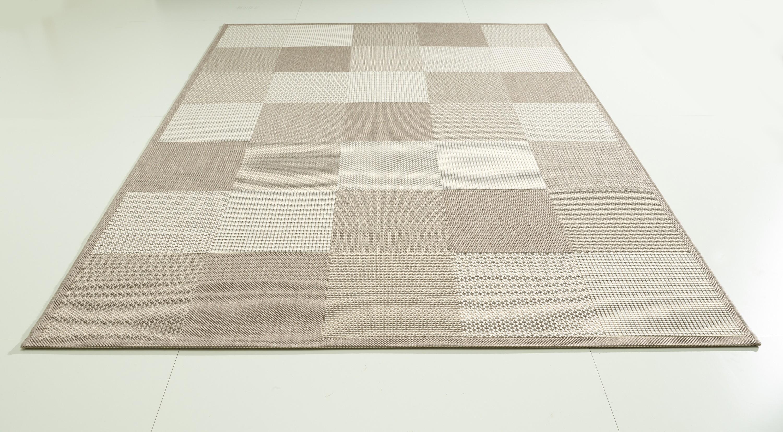 teppich beige gemustert 120x170 cm flachgewebe klick vinyl. Black Bedroom Furniture Sets. Home Design Ideas