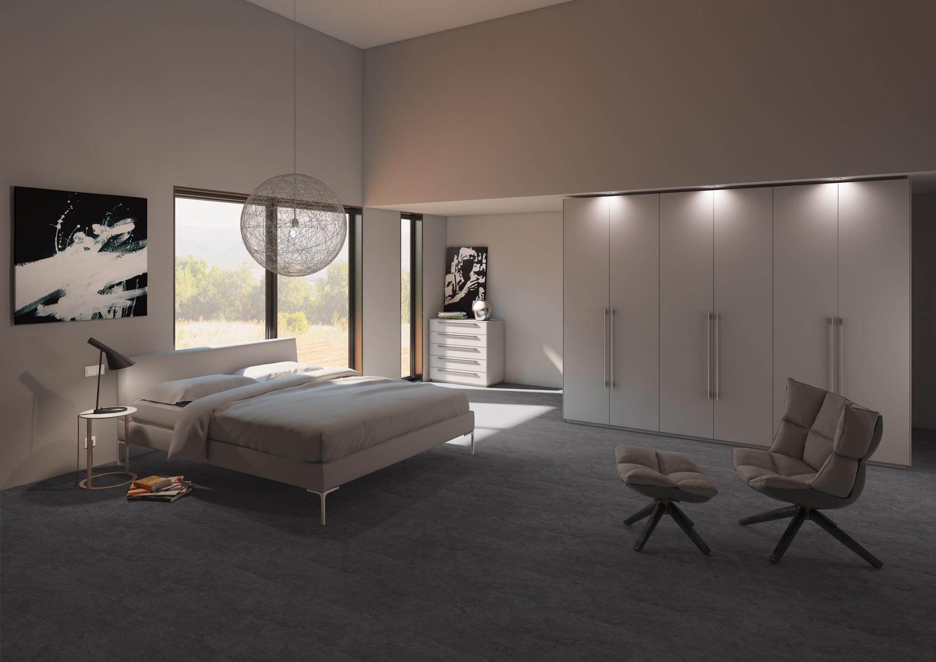 klick vinyl fliese basico ibiza schiefer dunkel klick vinyl. Black Bedroom Furniture Sets. Home Design Ideas