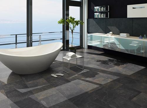 Räume - Moderne Badezimmer - Klick-Vinyl-Boden.De